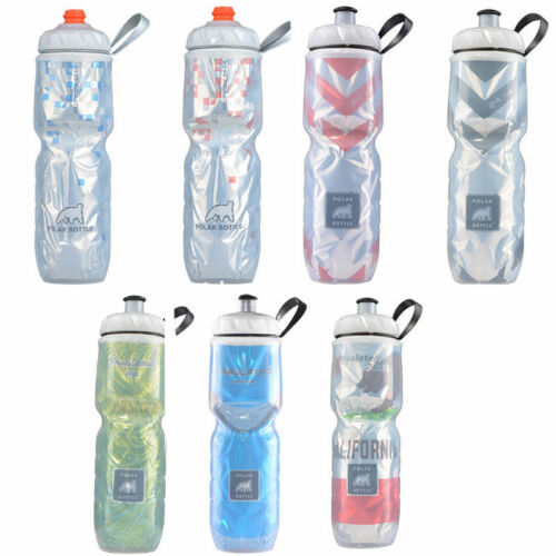 POLAR Bottle Bike Bicycle Cycling Insulated Water Bottle Mul-colors 24oz/&20oz