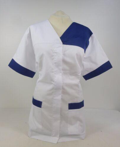 Alexandra IS137 NHS Womens White Healthcare Nurses Carer Uniform Tunic E2 JM1