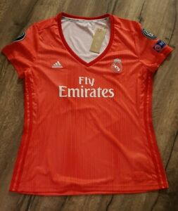 AUTHENTIC-WOMENS-PLAYER-ISSUE-ADIDAS-REAL-MADRID-3RD-SHIRT-JERSEY-LARGE-UK-16-18