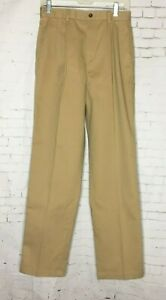 Brooks-Brothers-Women-039-s-Dress-Pants-sz-6-Beige-Camel-Pleated-Front-NWT