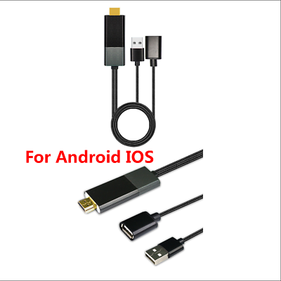 Car SUV Home Display Receiver Mirror link Cable Adapter For Android 4.4/&IOS IOS8