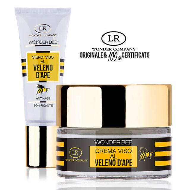 Wonder Bee CREMA VISO 50ml + SIERO VISO 30ml al veleno d'ape antirughe LR WONDER