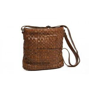 Image is loading Tan-Woven-Leather-Bag-Zara-Genuine-Leather-Handbag-