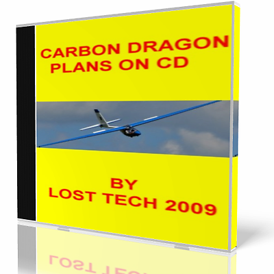 BUILD ULTRALIGHT CARBON DRAGON FOOT LAUNCHED SAILPLANE PLANS ON CD