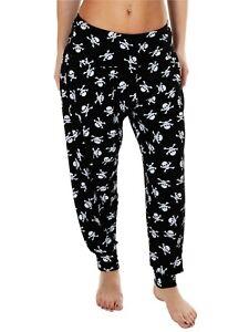 New Womens Ladies Ali Baba Skull Print Hareem Harem Trousers Pants Size 8-10-14