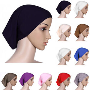 Hot-Islamic-Muslim-Women-Cotton-Headscarf-Inner-Hijab-Cap-Underscarf-Ninja-Scarf