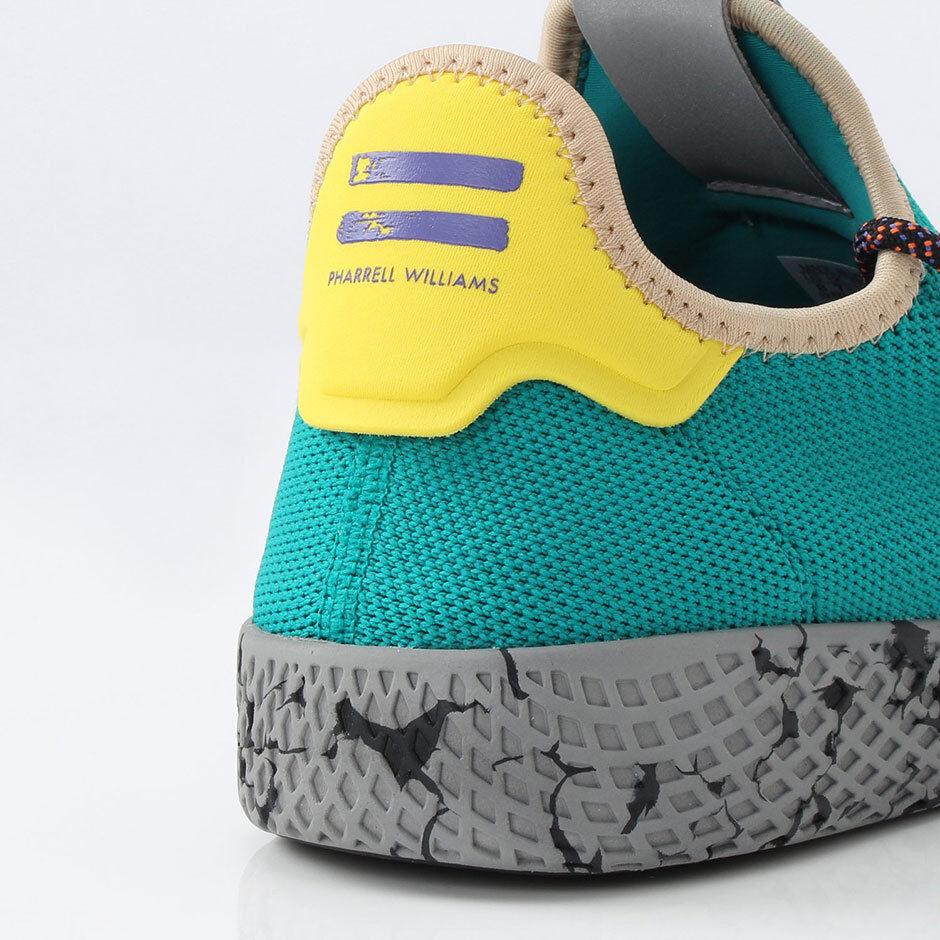 Adidas Pharrell Williams PW Tennis HU 9 Green Human Race Multi-color Yellow Grey