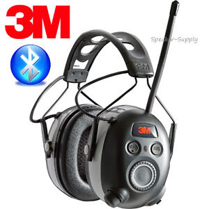 3m worktunes wireless hearing protection headphones fm bluetooth 24db 90542 3dc ebay. Black Bedroom Furniture Sets. Home Design Ideas