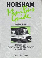 ORIGINAL LONDON COUNTRY S-W MINIBUS GUIDE FOR SERVICES IN HORSHAM - APRIL 1988