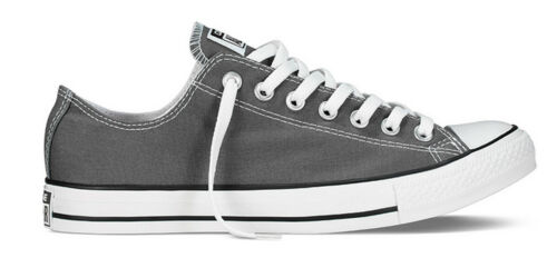 Converse All Star Ox Mens Charcoal Canvas Trainer Size UK 6-12
