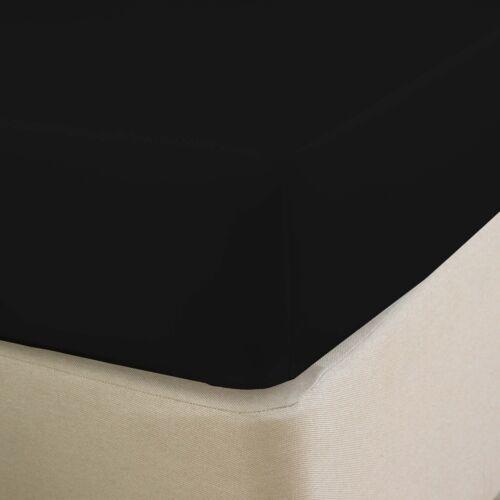 En coton égyptien Deep Drap Housse TC 200 Blanc Ivoire Bleu Simple Double King
