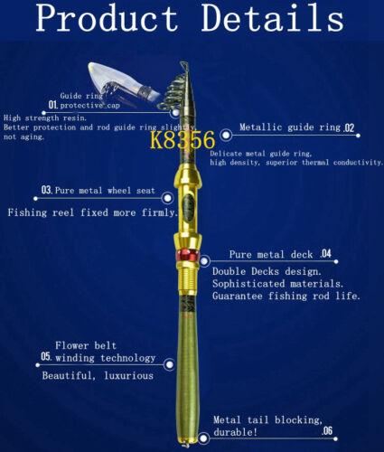 Caña Pesca Telescopica 99/% de Fibra Carbono ALTA Calidad 1.8 a 3 metros Pescar