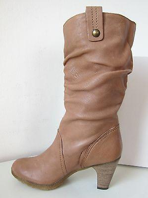 Tamaris Stiefel Weitschaft Weite L XL camel braun Gr 39 Boots brown beige 34 | eBay
