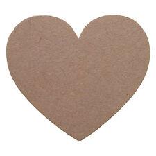 100 blank kraft heart sticker Plain wedding birthday  DIY Sticky Labels Craft