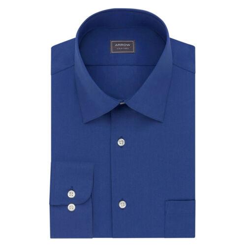 Arrow Big /& Tall Dress Shirt Mens Regular-Fit Long Sleeve Casual Button Front
