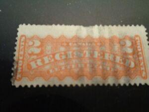 Canada 1875 2 Cent Registered Letter stamp Orange #F1