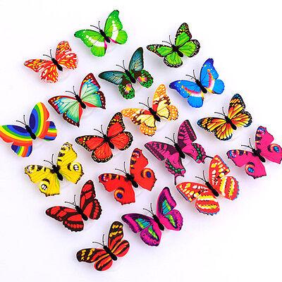 Kinder 10 x Farbveränderung 3D Schmetterling LED Nachtlicht für Zuhause
