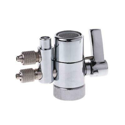 """Water Filter Faucet Dual Diverter Valve M22 To Chrome Plated Brass 1//4/"""""""