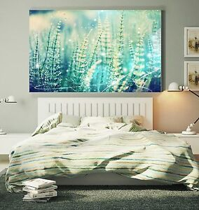 xxl leinwand bild 145x95x5 gras natur gem lde gr n floral blumen lounge ikea. Black Bedroom Furniture Sets. Home Design Ideas