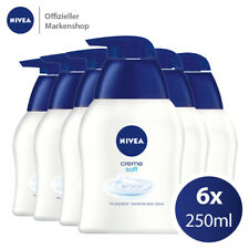 6x250ml NIVEA Creme Soft Flüssigseife Seifenspender Seife intensive Pflege Hände