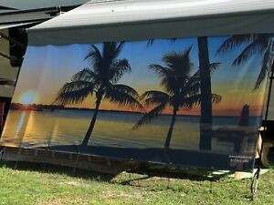 RV Awning Scenic Shade Privacy, Comfort, Beauty 7'X18' | eBay
