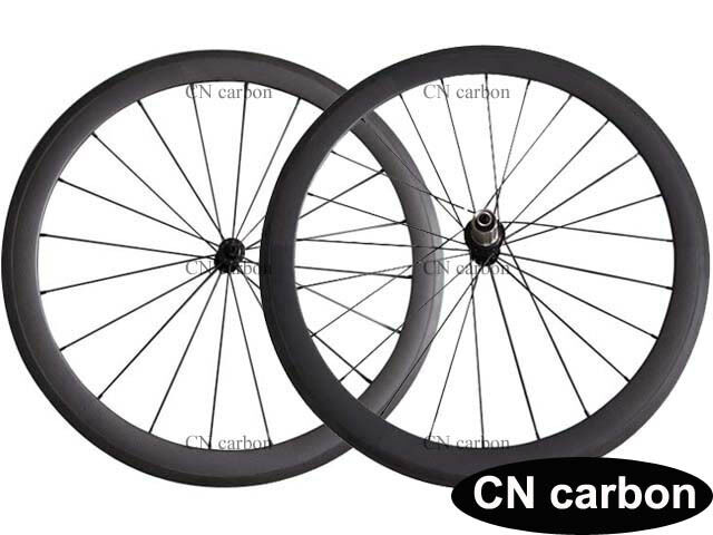 1390g only 50mm Clincher carbon road wheelset 23mm,25mm,27.5mm rim width