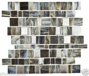 Frosted Nature Stained Glass Aluminum Rectangles Kitchen Bath
