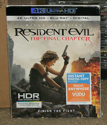 Resident Evil The Final Chapter 4k Ultra Hd Blu Ray New With