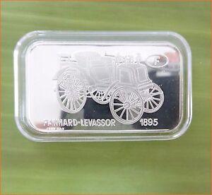 RARE-1-oz-999-Switzerland-Silver-Bar-034-PANHARD-LEVASSOR-1895-ANTIQUE-CAR-034-C72