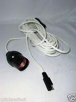 Medium Base E26 Light Bulb 12v Dc Socket W 32 Ft Wire & Sae 12volt Dc Flat Plug