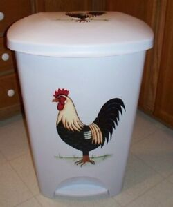 Image Is Loading Hp Rooster Trash Can Kitchen Check It Out