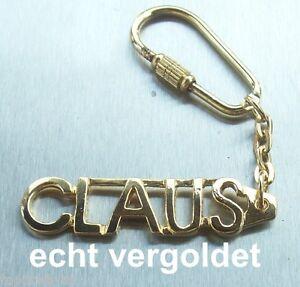 Realistisch Edler SchlÜsselanhÄnger Claus Vergoldet Gold Name Keychain Weihnachtsgeschenk Geschenk- & Werbeartikel