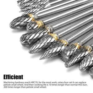 20pcs Tungsten Steel Carbide Burr Grinder Head Die Grinder Rotary Drill Bits Set