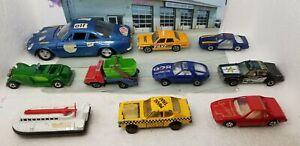Lot of 10 Vintage Hot Wheels, Matchbox, Polistil, Zee, Lesney Die-cast Toy Cars