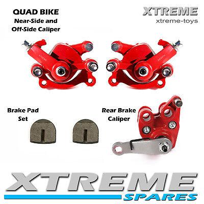 Dirt Bike Front// Rear Red Brake Disc Caliper With Pads Part 50cc Mini Moto