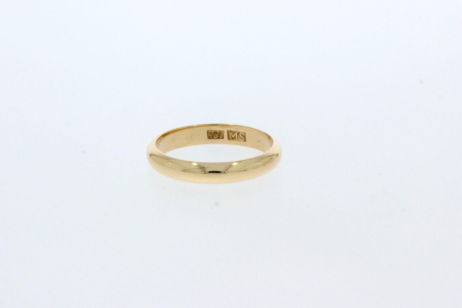 A1843-585 er yellowgold Ehering Ringgroße 64 Breit 4 mm Gewicht 4,9 Gramm