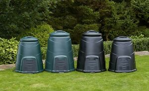 plastic compost bin green or black in either size 220 litre or 330