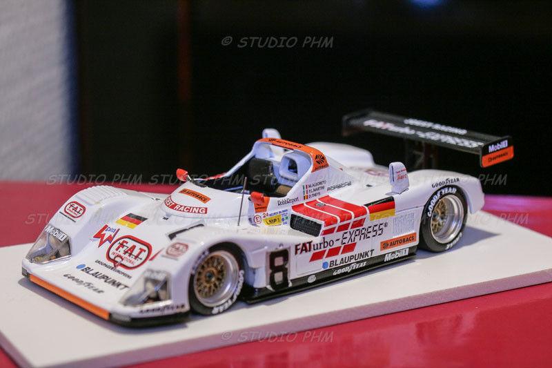 PORSCHE TWR N 8 JOEST RACING F.A.T.urbo Express Le MANS 96 Trofeu 1:43 no SPARK