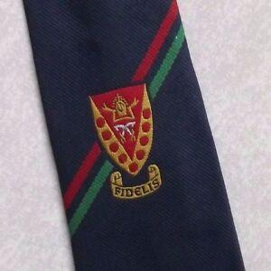 Belle Vintage Cravate Homme Cravate Shield Crested Club Association Société College-afficher Le Titre D'origine