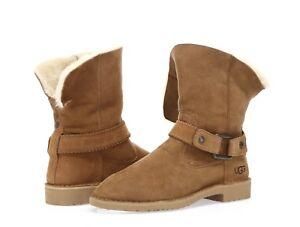 a3935790e6a Details about Ugg Australia Cedric Women's chestnut water resistant winter  boots sz. 9.5