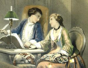 1850-Regnier-Dos-Grandes-Litografias-Romanticas-Color