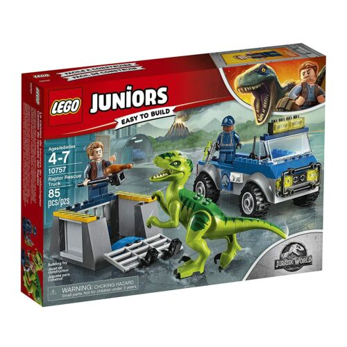 Lego Juniors 10757 RAPTOR RESCUE TRUCK Jurassic World dinosaur cage NISB