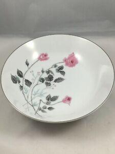 Arita-China-Japan-Pink-Rose-Flower-Round-Serving-Bowl