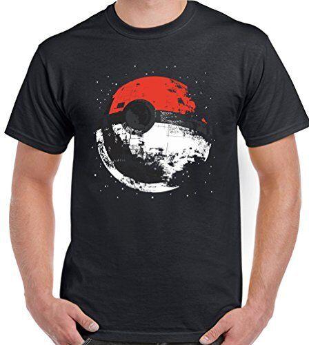 Pokemon Death Star Mens Funny Parody T-Shirt Darth Vader Go Yoda Jedi Sith