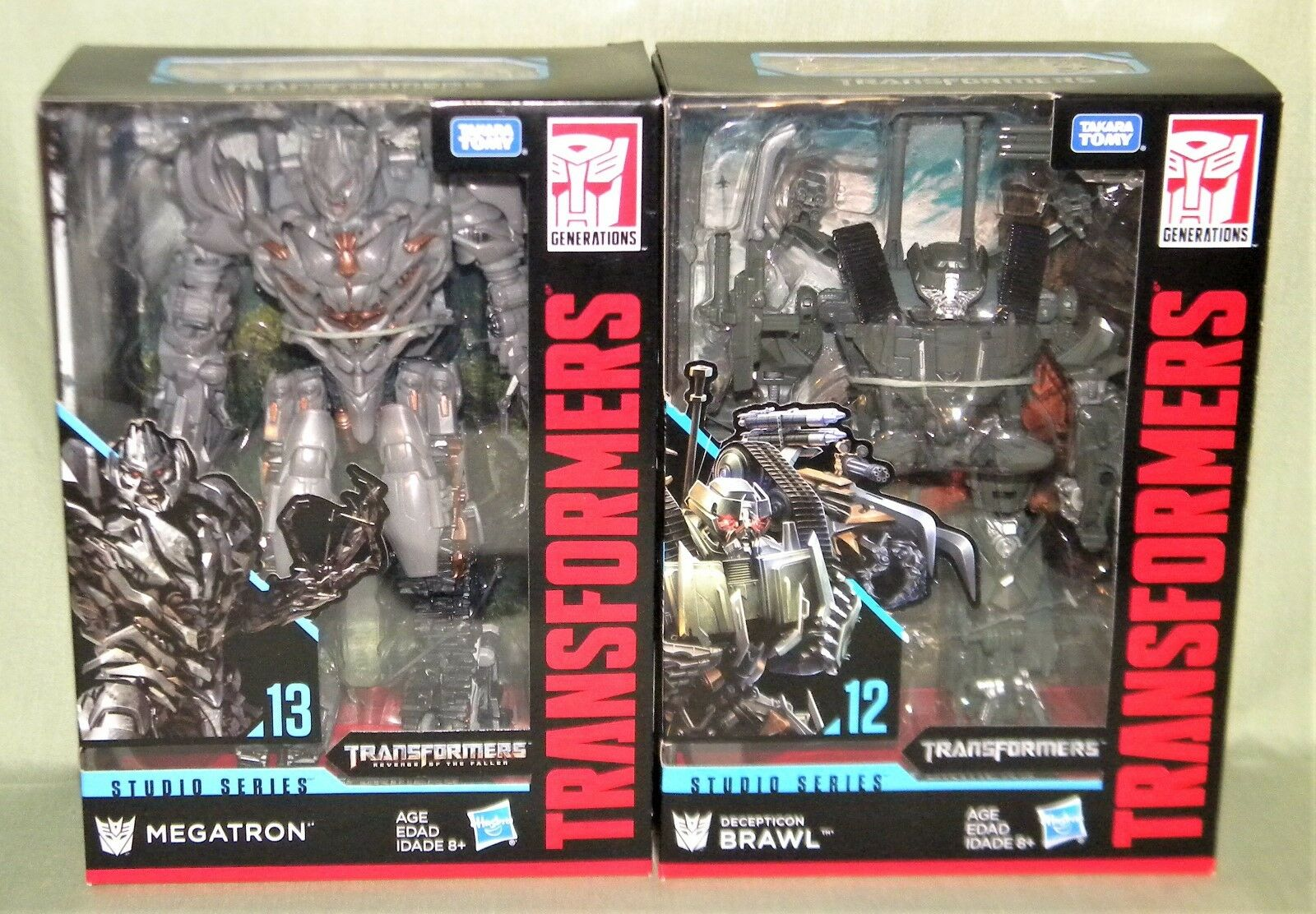 MEGATRON & BRAWN Transformers Studio Series Voyager 2018 SET OF 2 IN HAND
