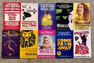 broadway mini flyers 10 mini flyers brand new free same day