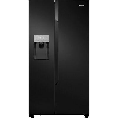 Hisense RS694N4TB1 91cm A+ Frost Free American Fridge Freezer Black