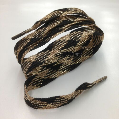 RARE COLORED Shoelaces Metallic Shoe Strings Glitter Athletic Sneaker Flat Laces