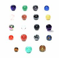 SEMI PRECIOUS CRYSTAL ROUND GEMSTONE BEADS - 8mm - 50 BEADS - CHOOSE YOUR STONE