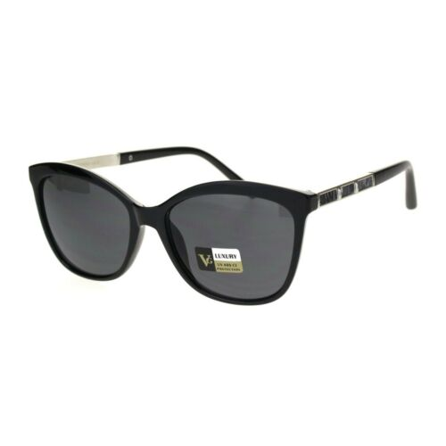 Womens Mod Luxury Chic Jewel Metal Arm Cat Eye Plastic Sunglasses